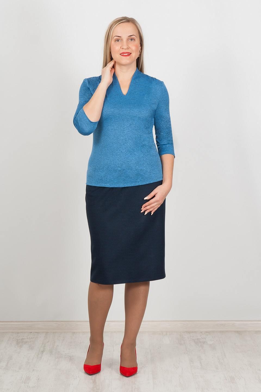 Блузки синие черным